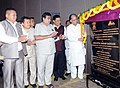 Tarun Gogoi laying the foundation stone of the North East Regional Office of National Highways and Infrastructure Development Corporation Ltd., in Amingaon, Guwahati.jpg
