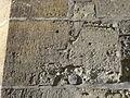 Taverny (95, église Notre-Dame, chapelle St-Barthélémy, graffiti à l'extérieur.JPG