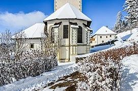 Techelsberg Sankt Martin Pfarrkirche hl. Martin Apsis außen 31012015 9311.jpg