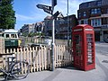 Telephone kiosk outside Swanage Station - geograph.org.uk - 887025.jpg