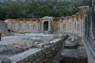 Zaghouan Aqueduct - Remains of the sacred spring at Zaghouan
