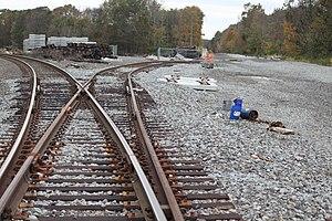 Port Morris Junction - Image: Temporary Port Morris Junction