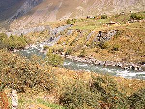 Terek River - The Terek river in North Georgia
