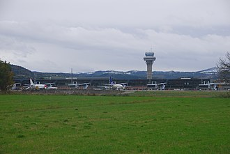 Trondheim Airport, Værnes - The five western-most gates at Terminal A