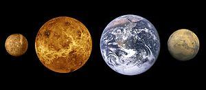 Terrestrial planet size comparisons edit