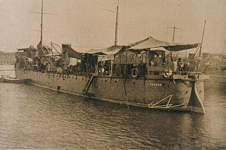 Second Battle of San Juan (1898) - Spanish vessel Terror undergoing repairs after the battle with USS St. Paul
