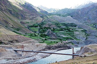 Maimay District - Image: The vanj bridge afghanistan and tajikistan