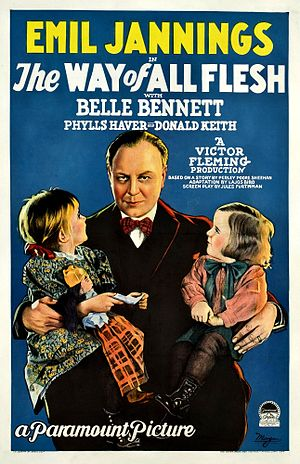The Way of All Flesh (1927 film) - Film poster