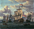 The 'Pieter and Paul' on the IJ in Amsterdam in 1698 (Abraham Storck).jpg