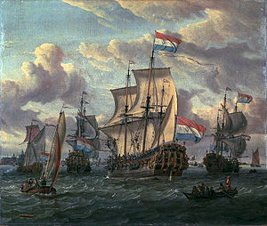 The 'Pieter and Paul' on the IJ in Amsterdam in 1698 (Abraham Storck)