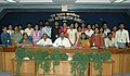 The Addl. Director General (M&C), Press Information Bureau, Shri B.S. Chauhan with the Journalism Students from M.E.S. Abasaheb Garware College, Department of Communication & Journalism, Pune, in New Delhi on March 23, 2009.jpg