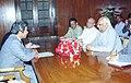 The Ambassador of Japan, Mr. Yasukunl Enoki calls on the Speaker, Lok Sabha Shri Somnath Chatterjee in New Delhi on October 28, 2004.jpg