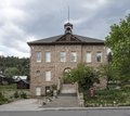 The Animas Museum, a local-history museum operated by the La Plata County Historical Society in the 1904 City School Building, a three-story sandstone structure constructed in 1904-1905 in what was LCCN2015632908.tif