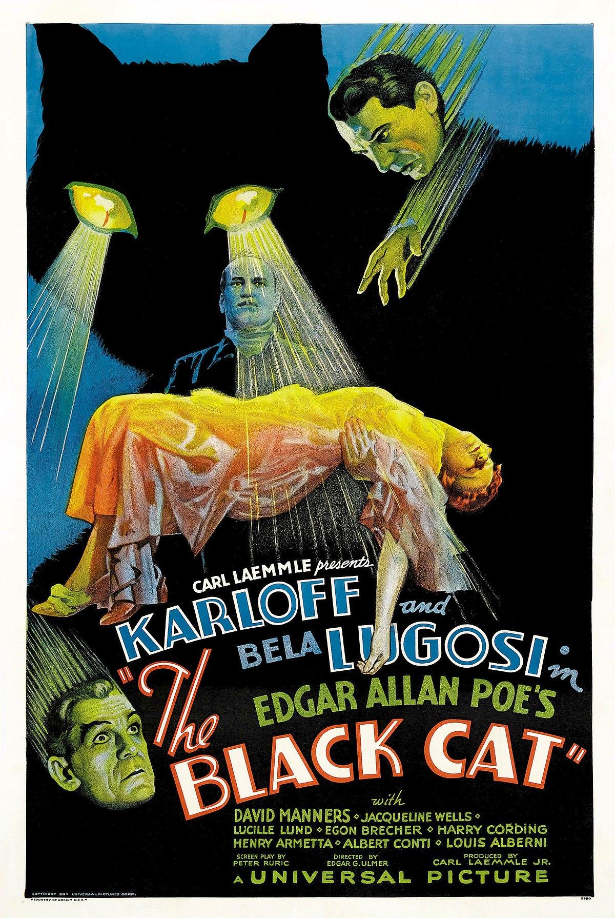 Votre dernier film visionné - Page 19 1200px-The_Black_Cat_%281934_poster_-_Style_D%29