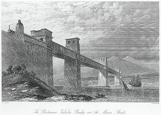 The Britannia tubular Bridge over the Menai Straits