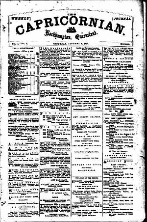 The Capricornian - Front page of The Capricornian, 9 January 1875