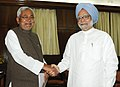 The Chief Minister of Bihar, Shri Nitish Kumar calling on the Prime Minister, Dr. Manmohan Singh, in New Delhi on March 18, 2013.jpg