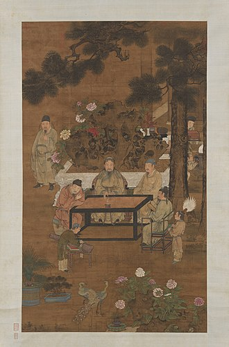 Four arts - Image: The Eighteen Scholars by an anonymous Ming artist 1