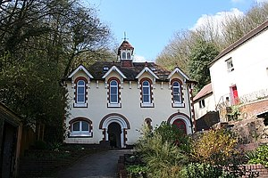 Malvern water - The Holy Well, where the water was first bottled on a commercial scale. The well is believed to be the oldest bottling plant in the world, and now bottles under the name Holywell Spring Water