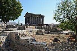 The Ionic Temple of Garni, built c. AD 77 during the reign of Tiridates I of Armenia (ruled c. AD 63 - c. 88), Armenia (30627457797).jpg