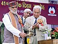 The Minister of State for Health & Family Welfare, Shri Ashwini Kumar Choubey lighting the lamp at the 41st Annual Day function of the National Institute of Health and Family Welfare (NIHFW), in New Delhi on March 09, 2018.jpg