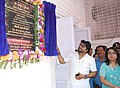 The Minister of State for Heavy Industries & Public Enterprises, Shri Babul Supriyo unveiling the plaque to inaugurate the first ever Post Office Passport Seva Kendra, at Asansol Post Office, West Bengal.jpg