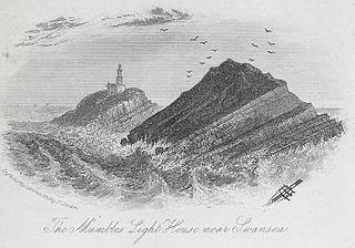 The Mumbles light house near Swansea