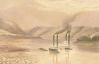 Lefevre James Cranstone - The Ohio River near Wheeling, West Virginia - watercolour, 1859–60 (Metropolitan Museum of Art)