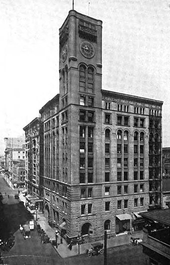 The Oregonian Building of 1892, which no longer stands The Oregonian Building circa 1912.jpg