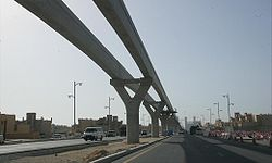 The Palm Jumeirah Monorail Under Construction on 16 April 2007.jpg