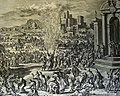 The Phillip Medhurst Picture Torah 331. The plague of boils. Exodus cap 9 v 10. Luyken and son.jpg