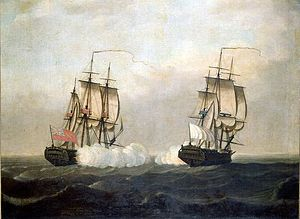 The Pitt engaging the Saint Louis 29 septembre 1758 Indes.jpg