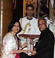 The President, Shri Pranab Mukherjee presenting the Padma Bhushan Award to Prof. (Dr.) Neelam Kler, at a Civil Investiture Ceremony, at Rashtrapati Bhavan, in New Delhi on March 31, 2014.jpg