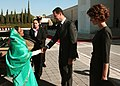 The President, Smt. Pratibha Devisingh Patil being welcomed by the President of Syrian Arab Republic, Dr. Bashar al Assad, at the Presidential Palace, at Damascus in Syria on November 27, 2010.jpg