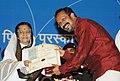 The President, Smt. Pratibha Devisingh Patil presenting the Rajat Kamal Award to Dr. Biju for the Best Malayalam Film (Veettilekkulla Vazhi), at the 58th National Film Awards function, in New Delhi on September 09, 2011.jpg