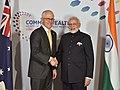 The Prime Minister, Shri Narendra Modi meeting the Prime Minister of Australia, Mr. Malcolm Turnbull, on the sidelines of CHOGM 2018, in London on April 19, 2018.JPG