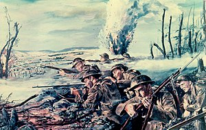 "3rd Infantry Division (United States) - Near Mézy, France, July 1918. Here the German Army made its last great attack of World War I. It struck in the Marne River area along the road to Paris, and the weight of the blow fell on the 38th U.S. Infantry Regiment under the command of MG Ulysses G. McAlexander, of the 3rd Division. This was their first fight. Firing in three directions, blasted by artillery fire, taking all flesh and blood could stand, the regiments held on doggedly and threw the enemy back across the Marne. This defense checked the Germans' assault and made an Allied offensive possible. General Pershing called it ""one of the most brilliant pages of our military annals."""