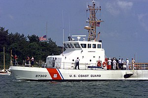 Marine Protector-class patrol boat - Image: The USCGC Hammerhead (WPB 87302) played a role in burying JFK Jr. a