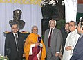 The Vice President, Mohammad Hamid Ansari unveiled the statue of Dr. M. Visvesvaraya at the Bengal Engineering and Science University, Kolkata on January 17, 2008.jpg