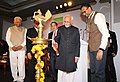 The Vice President, Shri M. Hamid Ansari lighting the lamp to inaugurate the First Edition of the Huddle, A Three-day Conclave, organised by The Hindu newspaper, in Bengaluru.jpg