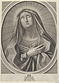 The Virgin with arms crossed over her chest, looking up to the left, in an oval frame, after Reni MET DP841784.jpg