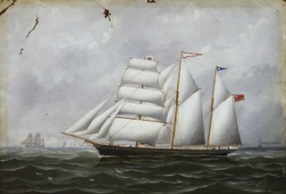 The barquentine Ocean Swell