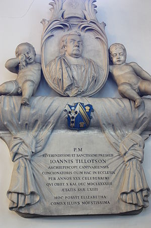 John Tillotson - The grave of John Tillotson, St Lawrence Jewry, London