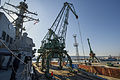The guided missile destroyer USS Truxtun (DDG 103) pulls into Varna, Bulgaria, March 13, 2014 140313-N-EI510-173.jpg