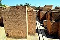 The procession street at Babylon, bas-reliefs of dragons and bulls appear on the walls.jpg