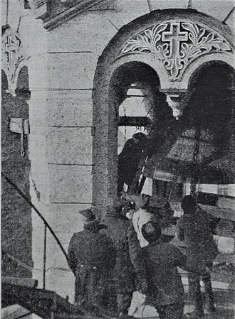 Collectivization in the Soviet Union - The removal of the bell from St Volodymyr's Cathedral Central Kiev USSR 1930