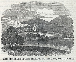 The residence of Mrs. Hemans, at Rhyllon, north Wales
