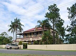 Theebine Town in Queensland, Australia