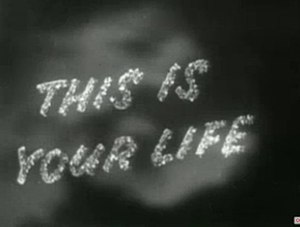 This Is Your Life - Title card from 1954