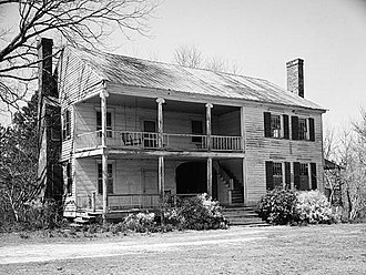 Hancock County, Georgia - Thomas Cheely House, ca. 1825